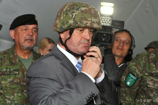 2cac329ae Defence Minister Peter Gajdos at the military training facility in Martin.  (Photo by TASR)