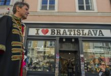 Bratislava Mayor Ivo Nesrovnal at the Bratislava City Days in a historic costume worn by city mayors in the past. (Photo by TASR)